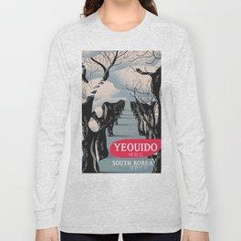 Yeouido South Korea travel poster Long Sleeve T-shirt