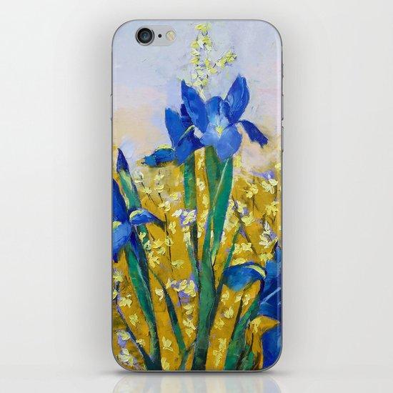 Iris and Forsythia iPhone & iPod Skin