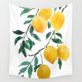 yellow lemon 2018 Wall Tapestry