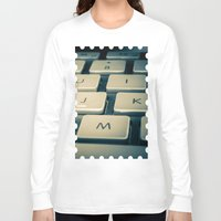 mac Long Sleeve T-shirts featuring Mac Keyboard by Mauricio Togawa
