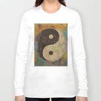 yin yang Long Sleeve T-shirts featuring Yin Yang by Michael Creese