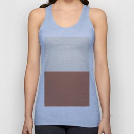 Earthy Horizon Inspired by Sherwin Williams Cavern Clay Sw 7701 and Creamy SW 7012 Unisex Tank Top