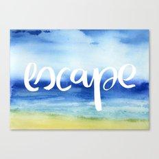 Escape - Collaboration by Jacqueline Maldonado and Galaxy Eyes Canvas Print
