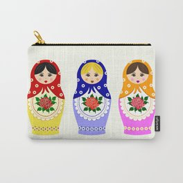 Russian matryoshka nesting dolls Carry-All Pouch