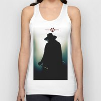 vendetta Tank Tops featuring V for Vendetta (e4) by Ezgi Kaya