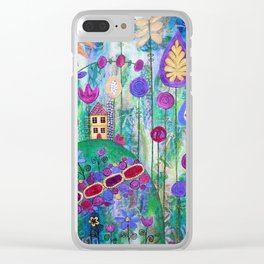 Happy Place Clear iPhone Case