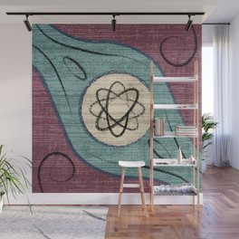 Minimalist Decoration with Brush Wall Mural