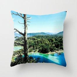 Greeen & Blue Throw Pillow