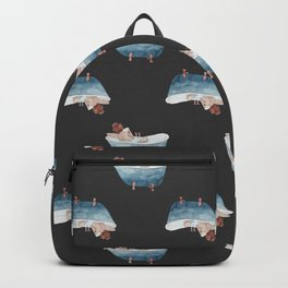 Bathtub Readings Black Backpack