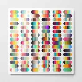 Palette color 100 Metal Print