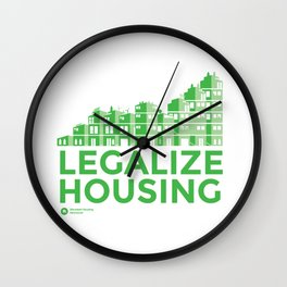 Legalize Housing Wall Clock