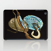 maori iPad Cases featuring Abalone with Historic Maori Fishing Hooks by Patricia Howitt