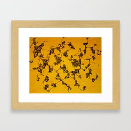 Yellow Abstract Pattern Painting Framed Art Print