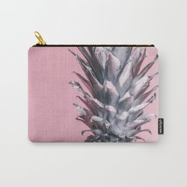 Pink And Silver Pineapple Carry-All Pouch