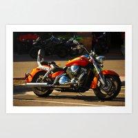 moto Art Prints featuring MOTO by KimberlySS
