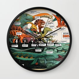 BEHOLD! THE DINOSAURS!  Wall Clock