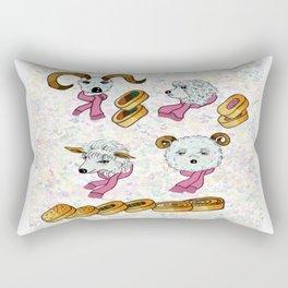 Sheep and Egg roll Rectangular Pillow
