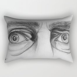 Starring Death in the Face Rectangular Pillow