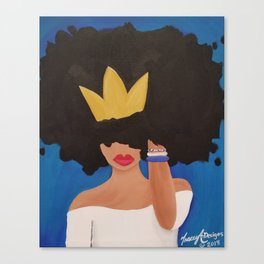 Unbothered (Blue) Canvas Print