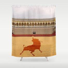 Seville bull Shower Curtain