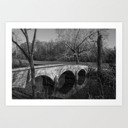 Burnside Bridge and Witness Tree at Antietam National Battlefield Art Print