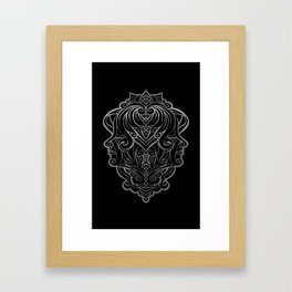 Gemini Silver Framed Art Print