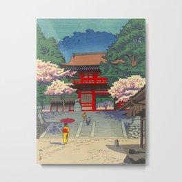 Asano Takeji Spring At Kurama Temple Vintage Japanese Woodblock Print Asian Art Metal Print