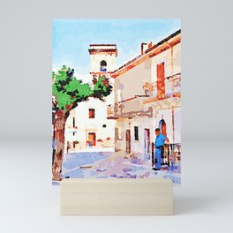 Borrello: old man Mini Art Print