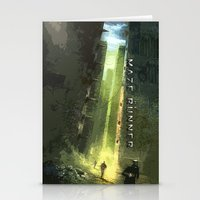 maze runner Stationery Cards featuring The Maze Runner by TK Studios