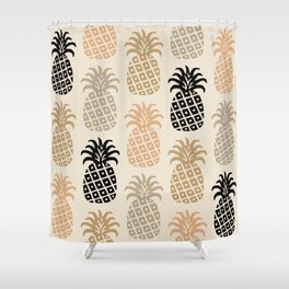 Retro Mid Century Modern Pineapple Pattern 77 Shower Curtain