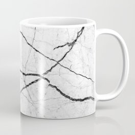 White marble abstract texture pattern Coffee Mug