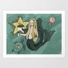 Coffee Goddess Art Print
