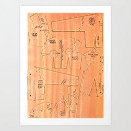 Khaki Bodices Art Print
