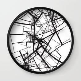 Suspension (Fractal Scaffold series #2) Wall Clock
