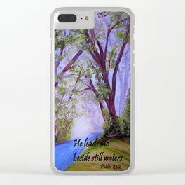 Beside Still Waters Clear iPhone Case