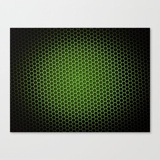 Honeycomb Background Green Canvas Print