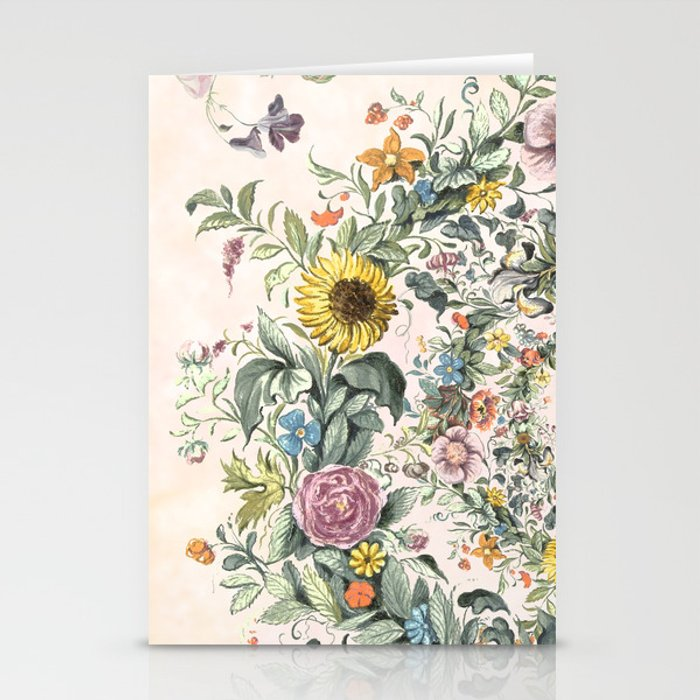 Circle of life- floral Stationery Cards