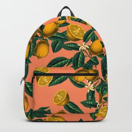 Lemon and Leaf Backpack