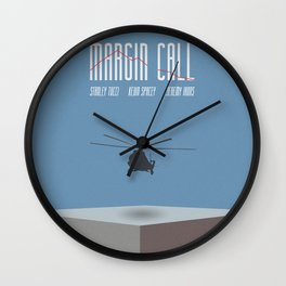 Margin Call, minimalist movie poster, Kevin Spacey, Stanley Tucci, Demi Moore Wall Clock