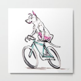 Mookie Rides the Pelotonia Metal Print