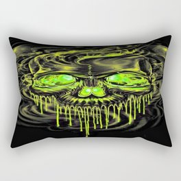 Glossy Yella Skeletons Rectangular Pillow