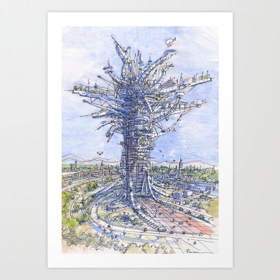 L'albero antropizzato Art Print