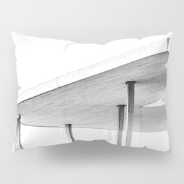 Architectural Study in White Pillow Sham