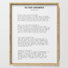 The Four Agreements BW #minimalism Serving Tray
