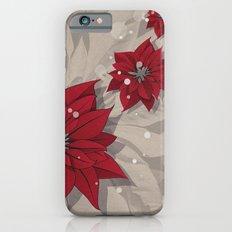 Poinsettias - Christmas flowers | BG Color I iPhone 6s Slim Case