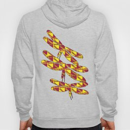 Checkered Dragonflies Hoody