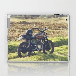 Moto guzzi, café racer, photo in south italy, man cave. Scrambler, fine art, motorcycle, motorbike Laptop & iPad Skin