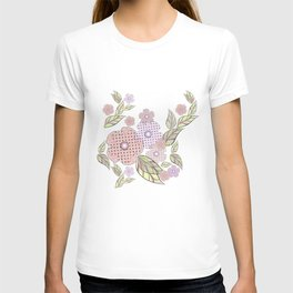 Flowers in polka dots. T-shirt