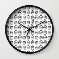 boyfriend Wall Clocks featuring The Boyfriend by Anna Cannuzz