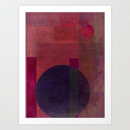 Abstract: Situating Art Print